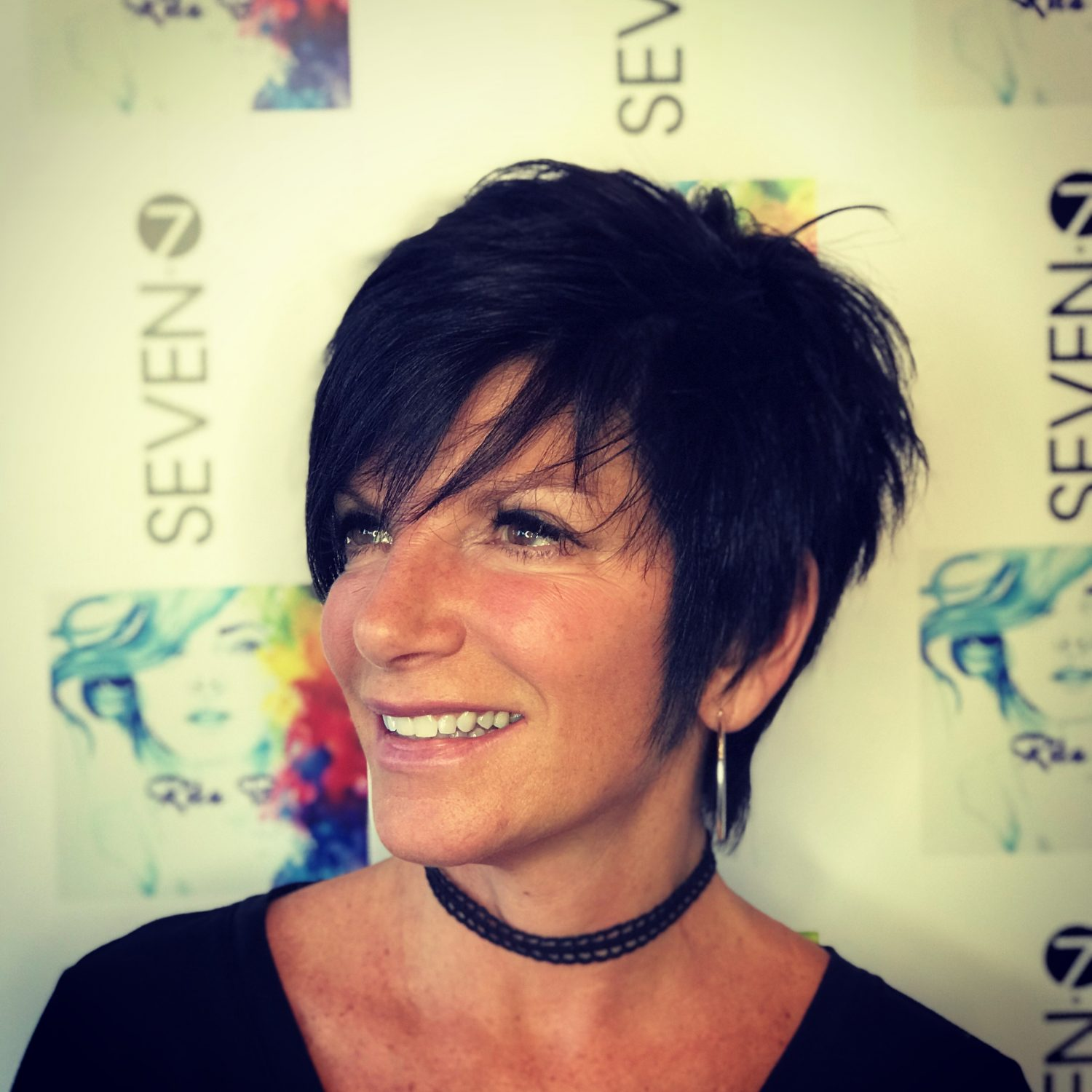 Women's short hair pixie