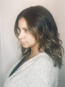 Ethnic hair balayage hair