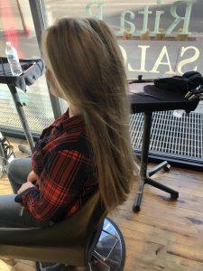 Women's long hair