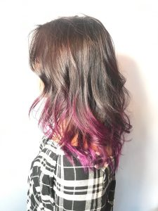 women's hair color, ombre, purple, purple hair color, women's hair cut, rita b salon